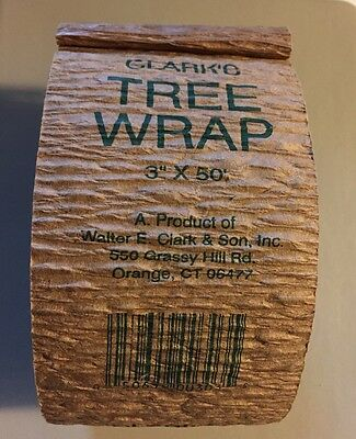 Walter E Clark 3in by 50ft Tree Wrap 00303, New