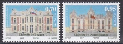 Luxembourg Luxemburg 2017 Europa Castles Russia China Flags no name country MNH