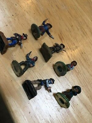 (7) 25-28mm Old West Cowboys Outlaws Bandidos painted miniatures  Lot 3