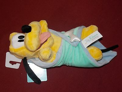 """Disney Parks Mickey Mouse Pal Baby """"Pluto"""" with Blanket Plush Doll Toy 10"""" (NEW)"""