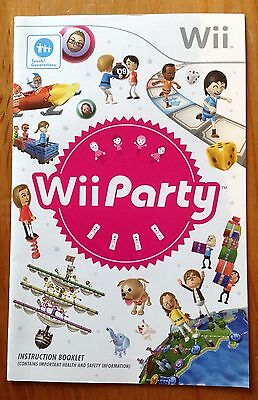 Wii Party: Nintendo Wii: Instruction Manual