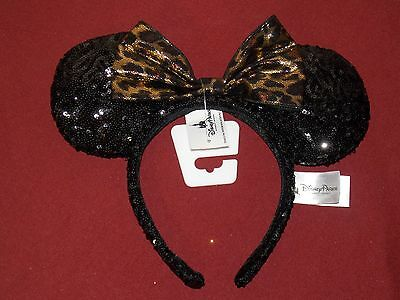 Authentic DISNEY Parks EAR HEADBAND Adult CHEETAH Print Mickey MOUSE New