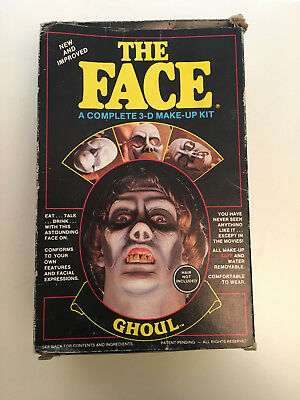 The Face Ghoul Mask Imagineering 3D Make Up Kit Halloween 1985 Costumes