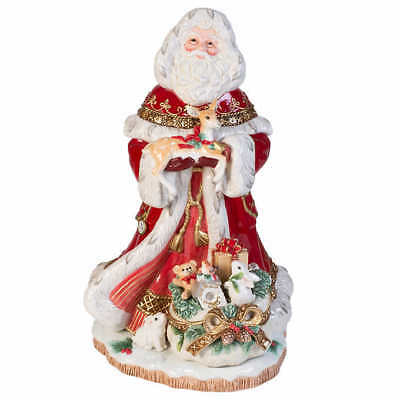"Fitz & Floyd Yuletide 19"" Santa Figurine, Hand Painted & Hand Crafted, NO TAX"