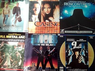 Lot de 34 films en Laser Disc