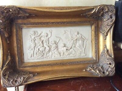 VINTAGE Relief Diana The Huntress In Heavy Swept Gilt Frame