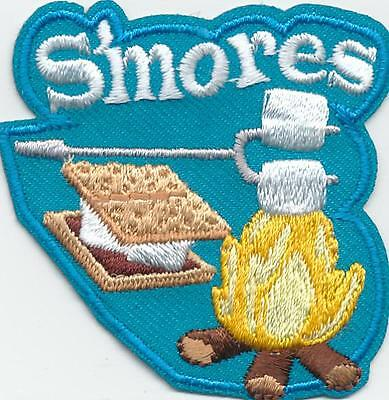 Girl Boy Cub SMORES Blue Campfire Fun Patches Crest Badges SCOUT GUIDE S'Mores