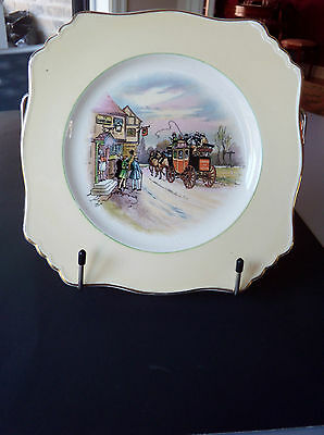 "Vtg 1930  Collectible China Plate Grimwades  "" Old English Coaching Lines "" 8"" ¾"