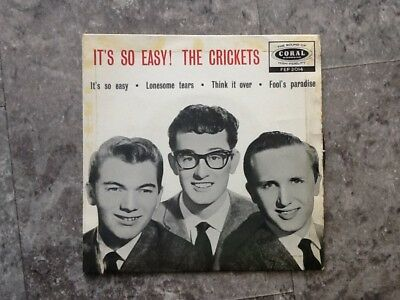 It's so easy The Crickets Buddy Holly. EP Tri Centre Coral FEP 2014