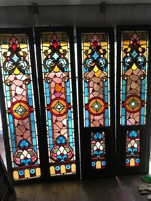 Kr 4 2Pair Available Price Each  Antique Sidelight Window 17.5x 73