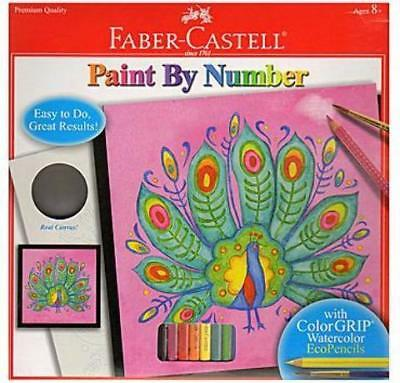 Faber-Castell Paint by Number with Watercolor Pencils Kits (Peacock)