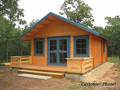 Log Cabin Kit, 16'x19', 292 SQF+ Loft, 3 Rooms+Loft, Free Terrace and Shipping !