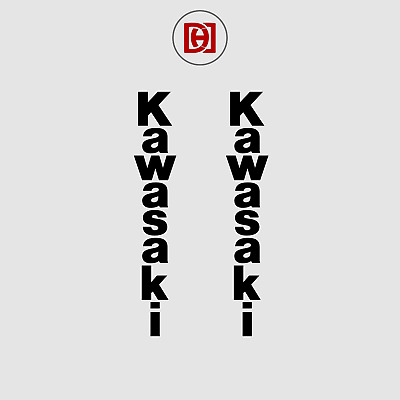 Kawasaki Vertical Sticker Decal x 2 - Available in Over 50+ Colours