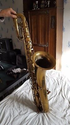 Dietze vintage baritone saxophone 'artist special' possibly 1920s with case