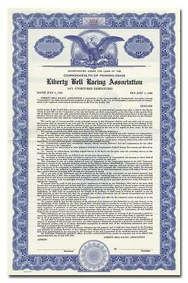 Liberty Bell Racing Association Bond Certificate