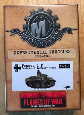 Flames of War MM12 German EXPERIMENTAL PANZER I F (MINT) FREE SHIPPING!