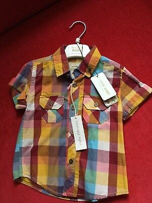 BNWT Boys aged18-24 months Little Rocha smart 100% cotton shirt