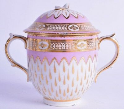 scarce pink pineapple derby porcelain chocolate cup - derby puce mark antique