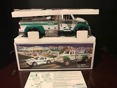 2011 Hess Toy Truck And Race Car New In Box