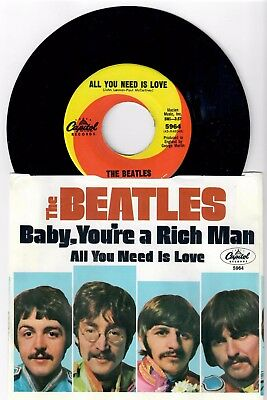 Beatles Unplayed Old Store Stock All You Need Is Love  45 With Wc Pic Sleeve
