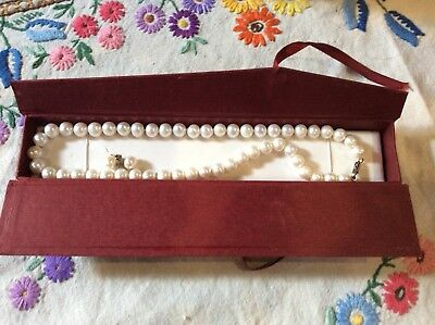 String Of Cultured Pearls And Earrings In Amy's Jewellery Box