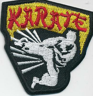 GIRL BOY CUB KARATE class visit Fun Patches Crests Badges SCOUTS GUIDE Iron  On