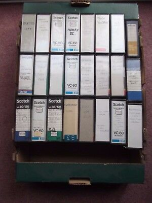 Box of 24 vintage Philips VCR N1700 Video cassettes