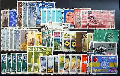 Ceylon British Colony Lot IX um 1960