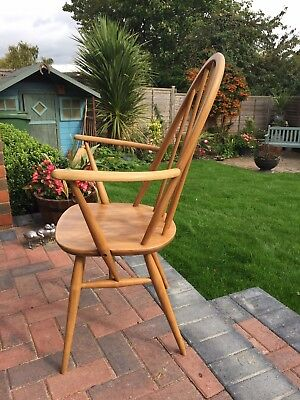 Vintage Ercol Blonde Windsor High Back Quaker Carver Armchair/Dining Chair 365