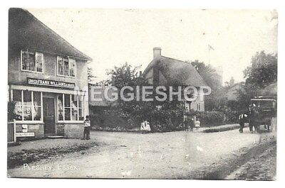 Essex: Chelmsford: Pleshey 1917 Postcard Frank Williams Grocer Post Office Shop