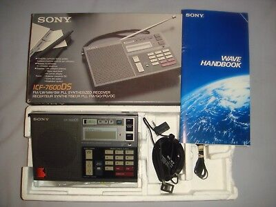 Sony  Icf-7600Ds  Radio With  Fm / Lw / Mw / Sw - In Very Good Condition & Boxed