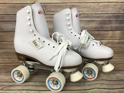 Chicago Women's Ladies Leather Lined Rink Skate Size 8 White Roller Skates NEW