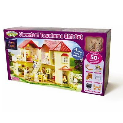 Cloverleaf Townhome (Gift Set) - Playset by Calico Critters (CC2066)