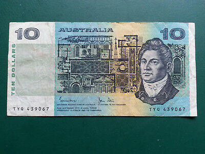 Australia $10 Banknote 1966-1993 - Francis Greenway & Henry Lawson