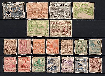 RARE     lot  cottbus       20 timbres     NH    neuf++