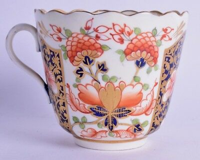 rare derby porcelain cup - imari porcelain cup with spoon holder - antique derby