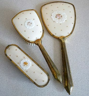 Vintage Dressing Table Hairbrush Mirror and Clothes Brush Set