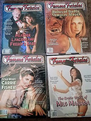 FEMME FATALES MAGAZINE Lot of 28 Issues - Adult Horror/Sci-fi/Action Zines