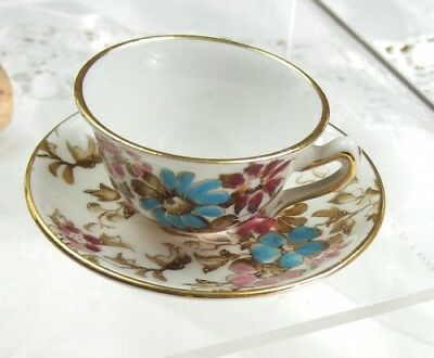 Crown Staffordshire Miniature Cup and Saucer