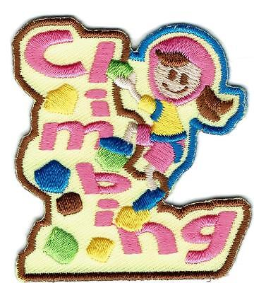 Girl ROCK CLIMBING Wall course Fun Patches Crests Badges SCOUT GUIDE
