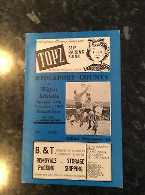 Pre League Stockport County V Wigan Athletic 14.11.1964 Fa Cup Game