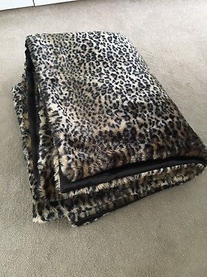 Next Leopard Print Faux Fur Bed Spread Quilt Throw