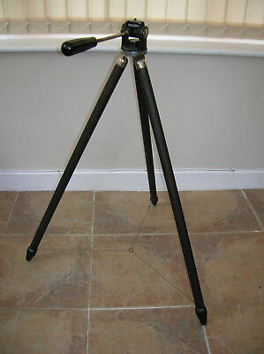 Vintage Bell & Howell Camera Tripod in Leather Case.