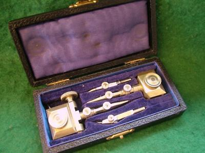 "Top Quality Vintage ""Swiss Pattern"" Beam Compass / Trammel. Cased."