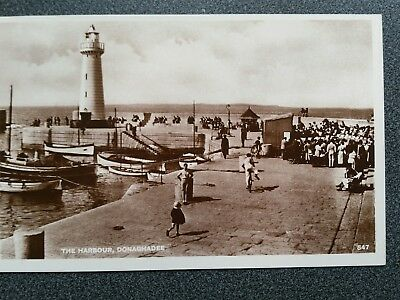 Real photographic card 547 people on pier, Donaghadee, Co Down