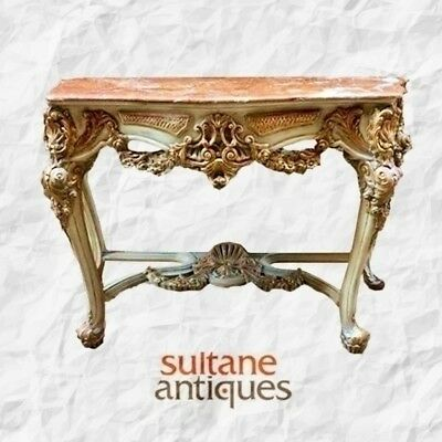 In 10 weeks Majestic marble top Louis XV style console
