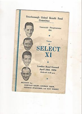 1955/6--Peterborough v A Select X1---Test'l for Rigby, Hair, G Stafford & Moody