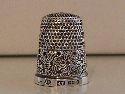 Lovely Large (14) James Fenton Silver Thimble Birmingham 1911 or possibly 1896