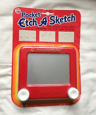 Retro / Vintage - Pocket Size Etch A Sketch - Peter Pan Play Things - NEW