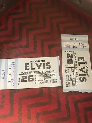 Elvis Presley Original Concert Tickets From Indianapolis, IN 1977 (re-listed)